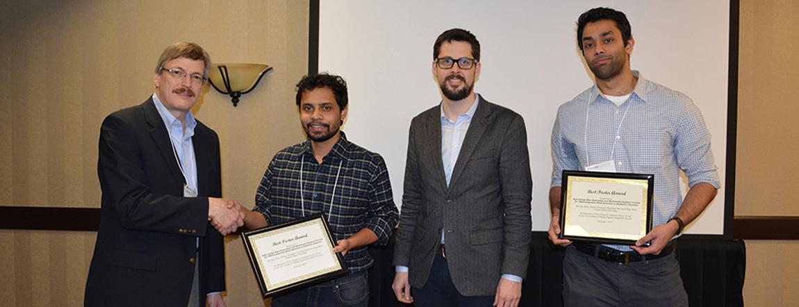 Director Weisshaar Congratulates Winners of Best Poster Award